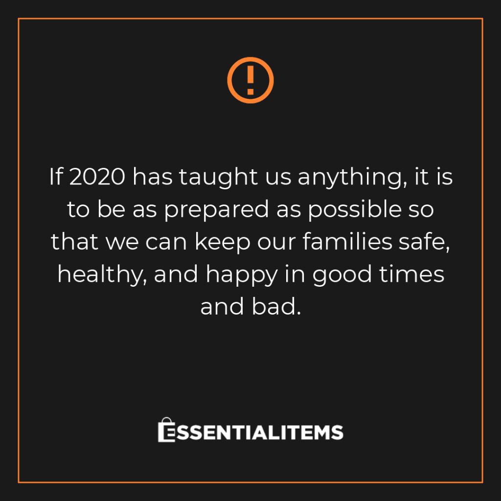 essential items 2020