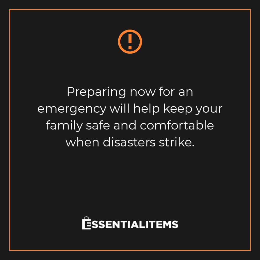 emergency essential items