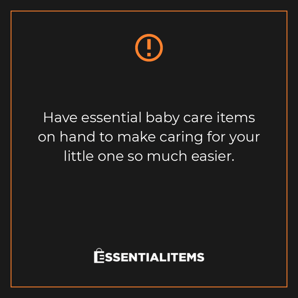 baby essential items